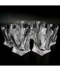 Стаканы квадро виски Crystalite 6шт