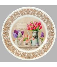 Тарелка декоративная Тюльпаны