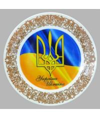 Тарелка декоративная Тризуб Украины