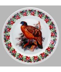 Тарелка декоративная Охота. Фазан