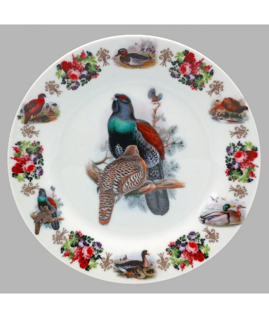 Тарелка декоративная Охота Глухарь