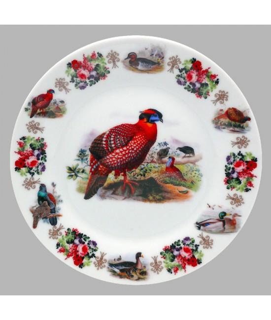 Тарелка декоративная Охота Фазан