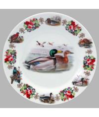Тарелка декоративная Охота Утки