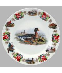 Тарелка декоративная Охота Гуси