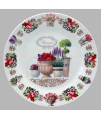 Тарелка декоративная Цветы Прованс