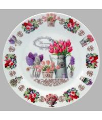 Тарелка декоративная Прованс Тюльпаны