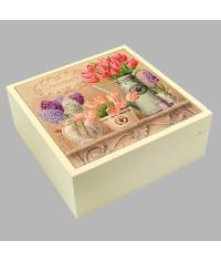 Шкатулка для бижутерии Тюльпаны