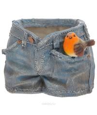 Кашпо Шорты с птичкой