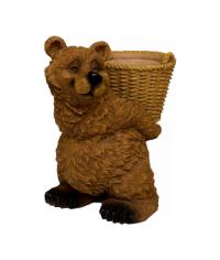 """Кашпо """"Медведь с корзиной"""" (Sealmark)"""