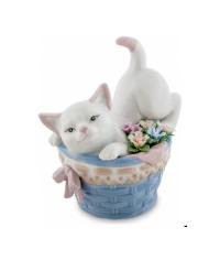 "Фигурка ""Котенок в корзине с цветами"" (Pavone)"