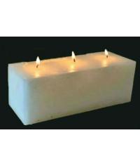 Свеча Рустик Прямоугольная 3 фитиля ( 20 х 7 х 7 )